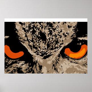 Eyes of owl poster