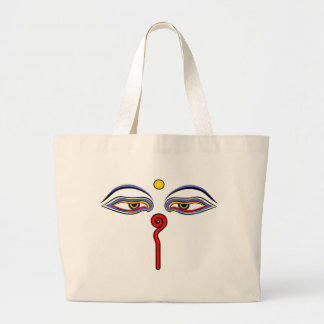 Eyes of the Buddha Large Tote Bag