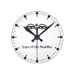 Eyes of the Buddha Round Wall Clock