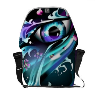 eyes of the deep blue sea messenger bag