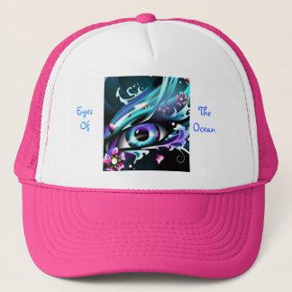 eyes of the deep blue sea trucker hat