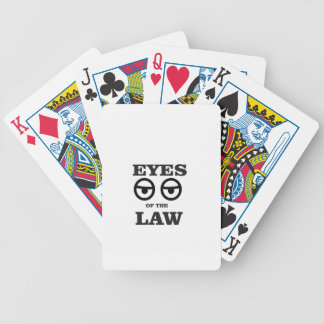 eyes of the law yeah bicycle playing cards