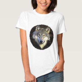 Eyes of the Mystic Gray Wolf Tshirt