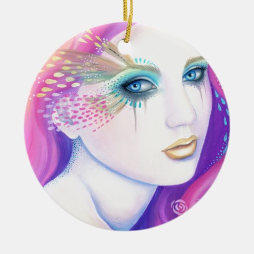 Eyes of the Sea Double-Sided Ceramic Round Christmas Ornament