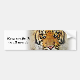 Eyes of the Tiger,Love_ Car Bumper Sticker