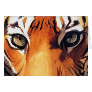 """Eyes of the Tiger"" Paul Jackson Watercolor Card"