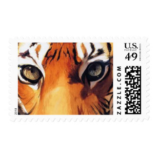 """Eyes of the Tiger"" Paul Jackson Watercolor Postage"