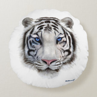 Eyes of the Tiger Round Pillow