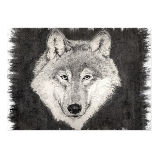 Eyes of the Wolf Profile Card Large Business Card
