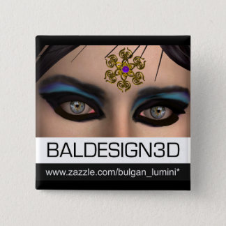 EYES OF THEDA /Baldesign3d Pinback Button