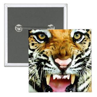 Eyes of Tiger Pinback Button