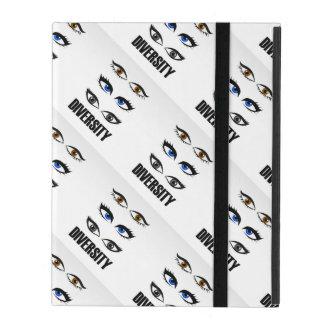 Eyes of women showing diversity iPad folio case