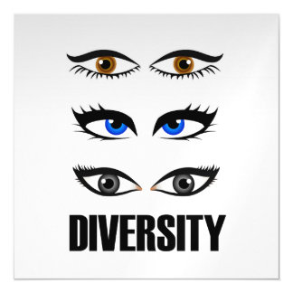 Eyes of women showing diversity magnetic card
