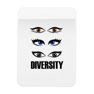 Eyes of women showing diversity rectangular photo magnet