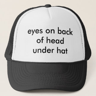 eyes on back of head under hat