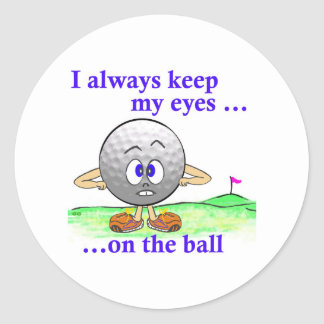 Eyes on the Ball Classic Round Sticker