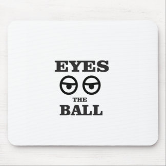 eyes on the ball mouse pad