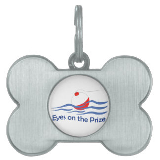 EYES ON THE PRIZE PET ID TAG