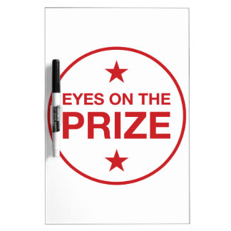 Eyes On The Prize Stars Circle (Choose Your Color) Dry Erase Board