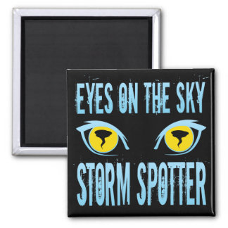 EYES ON THE SKY STORM SPOTTER 2 INCH SQUARE MAGNET