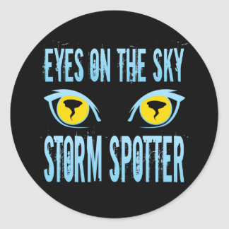 EYES ON THE SKY STORM SPOTTER CLASSIC ROUND STICKER