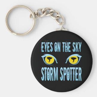 EYES ON THE SKY STORM SPOTTER KEYCHAIN