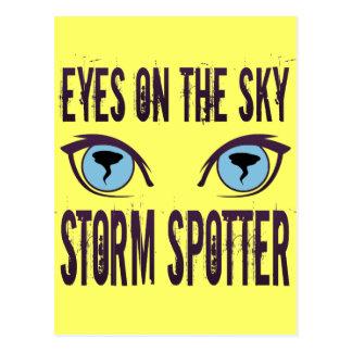 EYES ON THE SKY STORM SPOTTER POSTCARD