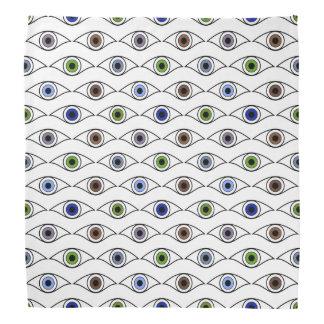 Eyes Pattern in Brown, Blue, Green, Gray, Violet Bandana
