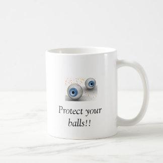 eyes, Protect your balls!! Coffee Mug