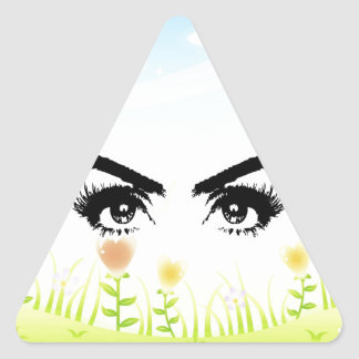 eyes searching for love peace triangle sticker