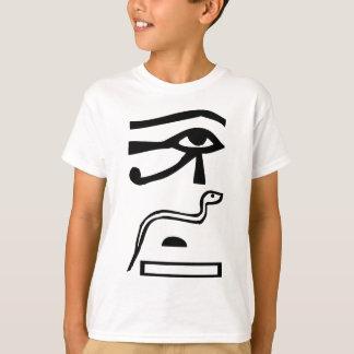 Eyes & Snake, Egyptian hieroglyph T-Shirt