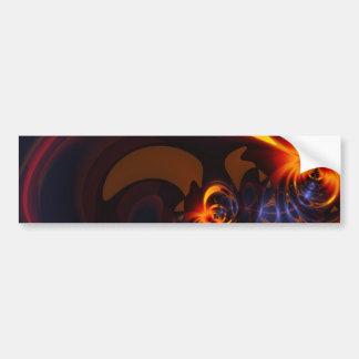 Eyes & Swirls – Amber & Indigo Delight Car Bumper Sticker