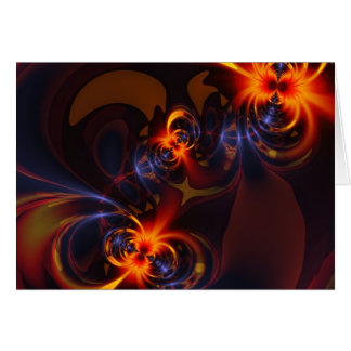 Eyes & Swirls – Amber & Indigo Delight Card