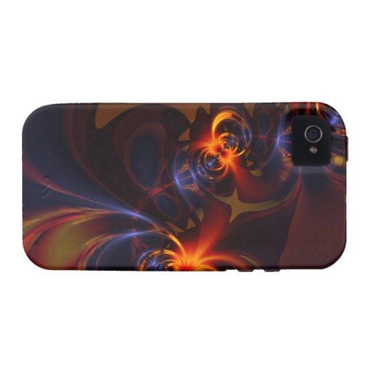 Eyes & Swirls – Amber & Indigo Delight Case-Mate iPhone 4 Cover