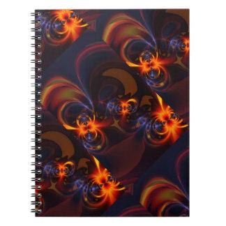 Eyes & Swirls – Amber & Indigo Delight Note Books
