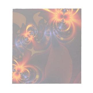 Eyes & Swirls – Amber & Indigo Delight Memo Notepads