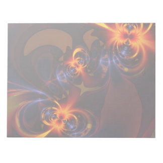 Eyes & Swirls – Amber & Indigo Delight Scratch Pad