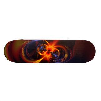 Eyes & Swirls – Amber & Indigo Delight Skateboard