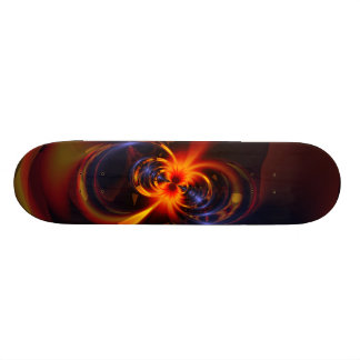 Eyes & Swirls – Amber & Indigo Delight Skateboard Deck