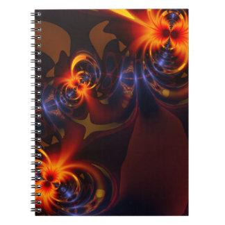 Eyes & Swirls – Amber & Indigo Delight Spiral Notebook