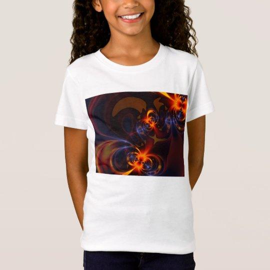 Eyes & Swirls – Amber & Indigo Delight T-Shirt