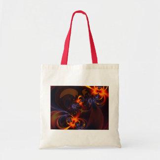 Eyes & Swirls – Amber & Indigo Delight Tote Bag