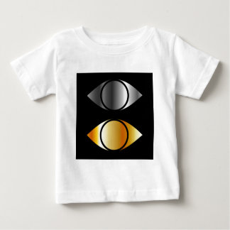 eyes symbols in gold and silver baby T-Shirt