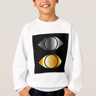 eyes symbols in gold and silver sweatshirt