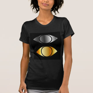 eyes symbols in gold and silver T-Shirt