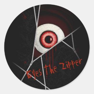 Eyes The Zipper Classic Round Sticker