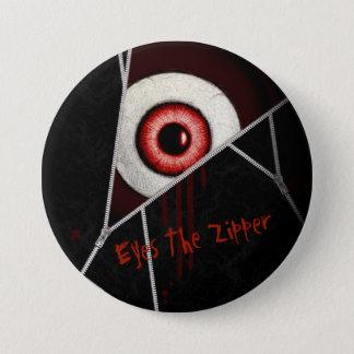 Eyes The Zipper Pinback Button