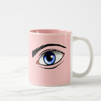 Eyes Two-Tone Coffee Mug
