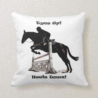 Eyes up! Heels Down! Horse American MoJo Pillow