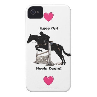 Eyes Up! Heels Down! Horse iPhone 4/4S Case-Mate C iPhone 4 Case
